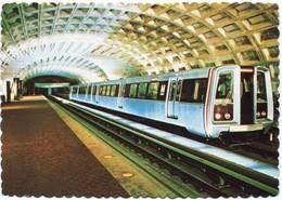 Lote PEP1046, USA, Postal, Postcard, Washington, Metro Station - Washington DC