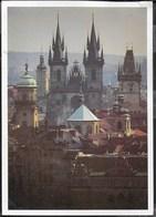 REPUBBLICA CECA - PRAGA - PANORAMA - VIAGGIATA 2000 FRANCOBOLLO ASPORTATO - Repubblica Ceca