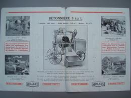 Documents  Publicitaire  Illustrées  MILLARS Bétonnieres  TBE FP Compris - Autres