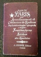 CarteGeo. 2. Plan De Paris, Rues Autobus Par À. Leconte. 1er Trimestre 1971 - Europe