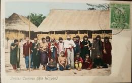 O) 1900 CIRCA-PERU, CUNIVOS INDIGENOUS CULTURE -RIVER UYACALI, MANCO CAPAC-INCA DYNASTY SCT 142 1c Green, POSTAL CARD XF - Peru