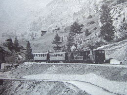 "SUISSE - ZERMATT - ROUTE DE ZERMATT - "" TRAIN "" - //// "" TRES RARE "" //// - VS Valais"