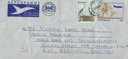 BOTSWANA AIRMAIL AEROGRAMME TO PAKISTAN. - Botswana (1966-...)