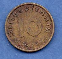 Allemagne -  10 Reichspfennig 1938 A    -  Km # 101   - état  TTB - [ 4] 1933-1945 : Third Reich