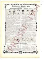Presse 1904 Peinture à L'aquarelle Costume Breton Bretonne Costume Bretagne Folklore Joubelinens 223CH7 - Vieux Papiers