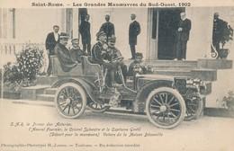Saint Rome (31 Haute Garonne) Les Grandes Manoeuvres Du Sud Ouest 1902, SAR Le Prince Des Asturies En Voiture Décauville - Autres Communes