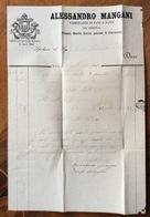 SIENA ALESSANDRO MANGANI FABBRICANTE DI PANE E PASTE P.ZA S.LUCIA PRESSO IL CARMINE FATTURE DEL 1867 - Luxembourg