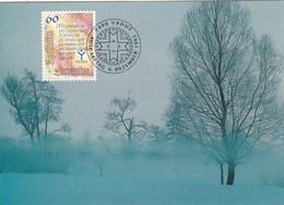 WINTER LANDSCAPE. MK NR 120. FOTO SIGI SCHERRER. FDC, LITHUANIA-BLEUP - Litouwen