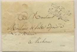 C15- Sous Prefet / De / Forcalquier  Basses Alpes 1810 - Marcofilia (sobres)