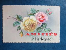 CPA 44 HERBIGNAC FANTAISIE AMITIES FLEURS - Herbignac