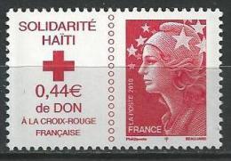 """FR YT 4434 """" Solidarité Haïti """" 2010 Neuf** - Nuovi"""