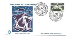 ENVELOPPE Journée Du Timbre 1959  à FLERS De L'ORNE (61)... Service Aéropostale De Nuit - FDC