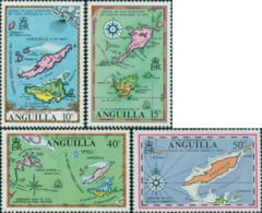 Ref. 163603 * NEW *  - ANGUILLA . 1972. ANCIENT MAPS. MAPAS ANTIGUOS - Anguilla (1968-...)