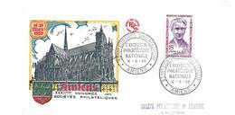 ENVELOPPE 32e Congrès Philatélique AMIENS (80) En 1959... Héros De La Résistance. Yvonne LE ROUX (1882-1945) - 1950-1959
