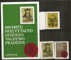 Vytautas Le Grand, Bloc-feuillet + Série Neufs **  Côte 12,00 Euro - Lituanie