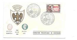 ENVELOPPE Exp. Philat. Du Centenaire Du Rattachement NICE 1960-1960 - FDC