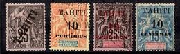 Tahiti YT N° 15 Neuf (*) Et N° 31/33 Oblitérés. B/TB. A Saisir! - Tahiti (1882-1915)