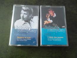 LOT DE 2 K 7 JOHNNY HALLYDAY  RETIENS LA NUIT 1961 62  / L'IDOLE DES JEUNES 1962 - Cassettes Audio