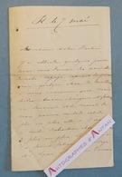 """L.A.S Besançon - Signature """" De LAGARDE """" Personnalité à Identifier. Lettre Autographe LAS à Un Médecin - Autógrafos"""
