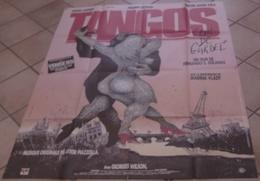 "AFFICHE CINEMA ORIGINALE FILM TANGOS "" L'EXIL DE GARDEL "" SOLANAS LAFORET LEOTARD 1985 DANSE TB DESSIN - Posters"