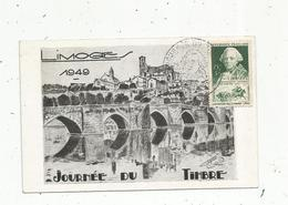 Sur Carte Postale , Journée Du Timbre ,LIMOGES ,26 Mars 1949 - Postmark Collection (Covers)