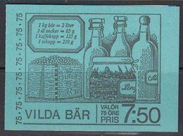 Sweden 1977 Vilda Bar Booklet ** Mnh (41253D) - Cuadernillos/libretas