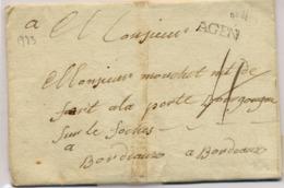 C17-   AGEN Lot Et Garonne 1773 Indice 10 - 1701-1800: Precursors XVIII