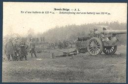 Armée Belge - A.L. - Tir D'une Batterie De 155 Mm - Manoeuvres