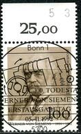 BRD - Mi 1642 Oberrand - Zentrisch OO Gestempelt (E) - 100Pf     Werner Von Siemens - Usados
