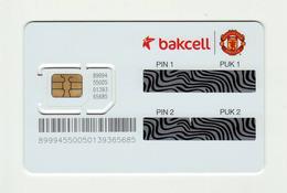 AZERBAIJAN Bakcell Manchester United GSM SIM MINT - Azerbaïjan