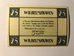 Allemagne Notgeld Wilhelmshaven 25 Pfennig - Collections