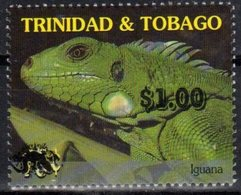 TRINIDAD  AND TOBAGO,MNH, REPTILES, IGUANAS, OVERPRINT, 1v - Reptiles & Amphibians