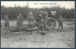 Armée Belge - A.L. - Au 220 Mm Pièce Prête - Manovre