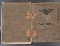 Soldbuch 2 WK Schütze Ausgestellt Frankfurt 1940 Einträge Bis 12.6.1945 Malariakrank Merkblätter Dabei! - Historische Dokumente
