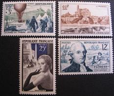 R1692/354 - 1955 - DIVERS - N°1018 À 1021 NEUFS** - Cote : 10,20 € - France