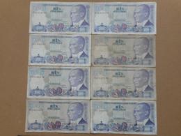 Turkey 1000 Lira 1988 (Lot Of 8 Banknotes) - Turquie