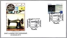AÑO DEL BORDADO -  YEAR OF EMBROIDERY. Maquina De Coser - Sewing Machine. Sant Llorenc Des Cardassar 2014 - Textile