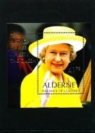 ALDERNEY - 2001  QUEEN'S BIRTHDAY  MS  MINT NH - Alderney