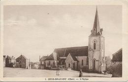 D18 - SENS  BEAUJEU - L'EGLISE - Femme 2 Enfants Et Cycliste - Autres Communes