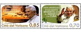 Ref. 316204 * MNH * - VATICAN. 2013. VIAJES DEL PAPA BENEDICTO XVI - Vatican