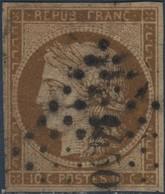 FRANCE N°1a Cérès 10c Bistre-brun.Oblitéré LPC N°1450 Grenade Sur L'Adour. - 1849-1850 Ceres