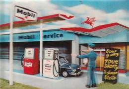Publicité : Mobil : Système 3D  ( Au Dos  Station Mobil : Caluire Et Cuire - Rhone ) - Advertising