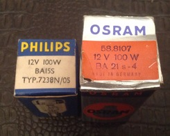 Lot. 958. Deux Ampoules 12V 100W. - Projectoren