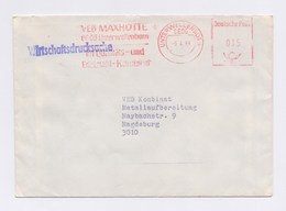 DDR AFS - UNTERWELLENBORN, VEB Maxhütte -6.4.89 - Marcofilie - EMA (Print Machine)