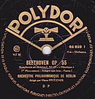78 Trs - 30 Cm - état B -  BEETHOVEN OP. 55 - ORCHESTRE PHYLHARMONIQUE DE BERLIN 1er Et 2e Mouvements - 78 Rpm - Schellackplatten