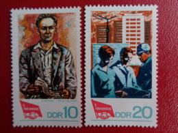 DDR Y&T N° 1059 à 1060  ** - 7e CONGRES FDGB - [6] République Démocratique
