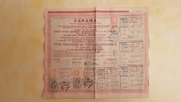 Panama - Titre Provisoire Au Porteur Négociable 1888 - 1 Obligation De 60 Francs - Bon état ( Voir Photos) - Autres