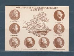 Carte Moderne Nos Députés Aux états Généraux 5è Salon Pézenas 1989 - Bourses & Salons De Collections