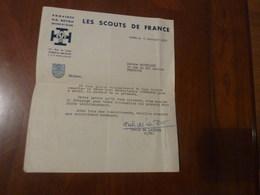 LETTRE TAPUSCRITE SIGNEE LOUIS DE LAJARTE SCOUT SCOUTISME PROVINCE N.D. ROYALE 2/1/1950 LES SCOUTS DE FRANCE - Autographes