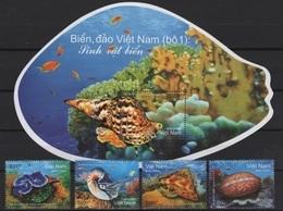 Vietnam (2018)  - Set + Block -  /  Sea Life - Marine Fauna - Maritiem Leven